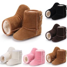 Discount toddler snow shoes - Hot Fashion Baby Kids Girl Boy Shoes Winter Warm Boots Soft Sole Booties Snow Boot Infant Toddler Newborn Crib Shoes 5 C