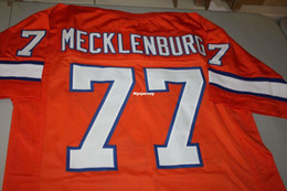 664a40c658c Cheap Retro KARL MECKLENBURG #77 CUSTOM Throwbacks MITCHELL & NESS Jersey  orange Stitching men's Football Jerseys