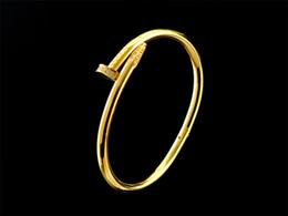 $enCountryForm.capitalKeyWord Australia - Quality Celebrity design Metal Buckle Screws diamond bracelet Metal Cuff bracelet Gold Silver Jewelry With Box