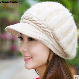 Discount korean women cap hat autumn - 2018 New Korean Fashion Ladies Autumn Winter Kniting Hats Woolen Caps Double Warm Ear Protectors Women Outdoor Use Fur H