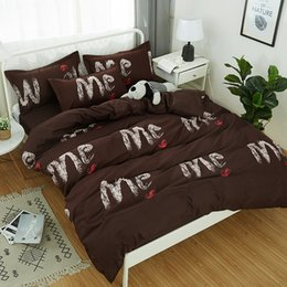 $enCountryForm.capitalKeyWord Australia - BeddingOutlet Black and White Bedding Set Home textiles Soft Duvet Cover quilt cover bed sheet with Pillowcases 3 4pcs