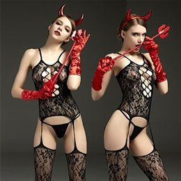 $enCountryForm.capitalKeyWord NZ - Net stockings sexy lingerie jacquard slings hollowed out one-piece beast rhinoceros cosplay costume cattle red Whip beat happy QN40A10262L