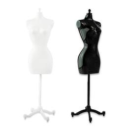 Ingrosso Manichino femminile 4pcs (2 nero + 2 bianco) per la bambola / mostro / vestiti del bjd diy Esposizione del regalo di compleanno trasporto libero