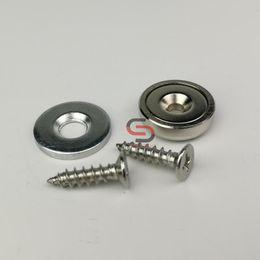$enCountryForm.capitalKeyWord UK - 20Set 13KG Neodymium Countersunk Magnet Latch Kits D16mm With Strike Plate and Screw Cabinet Door Furniture Repair Set