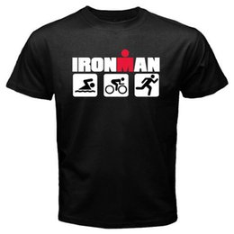 $enCountryForm.capitalKeyWord Australia - Ironman Triathlon Swim Bike Run Sports Symbol Men's Black T-Shirt Size S To 3Xl T Shirt Men Man's Funny Short Sleeve Cotton Custom
