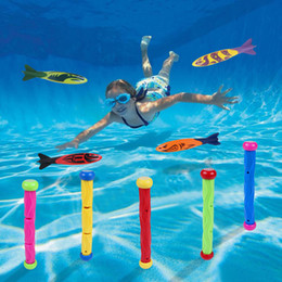 kids bathtub toys 2019 - Diving Toys 9 Packs Set 4 Gliding Torpedoes And 5 Diving Sticks Summer Water Toy For Pool Bathtub Sea Kids Swimming And
