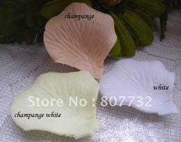 White Rose Petals Wedding Australia - High Quality Artificial Rose Petals White Champagne Ivory Mix 3 Colors 1200pcs Pack Romantic Wedding Decorative Flower