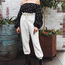 $enCountryForm.capitalKeyWord Canada - Women Loose Sweatpants Ladies Elegant Casual Trousers 2018 Spring Fashion Female White Solid Harem Pants Lace Up Pants Plus Size