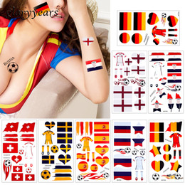 body flags 2019 - glaryyears 10 Pieces lot World 2018 Cup Body Temporary Tattoo Sticker Football Game Sports Russia Countries Flags Tattoo