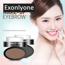 Eyebrow Shadow Powder NZ - 1 PC 2 Colors Eyebrow Powder Seal Waterproof Eyebrow Stamp Shadow Set Natural Shape Brow Stamp Powder Palette MZ49-7
