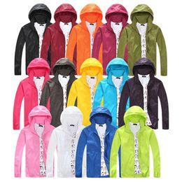 $enCountryForm.capitalKeyWord Australia - Outdoor Sport Jacket Windbreaker Waterproof Anti-UV Sun protection Movement Coat Quick-dry men women Ultra-thin Hiking Jackets