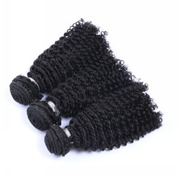$enCountryForm.capitalKeyWord UK - Kinky Curly Unprocessed Indian Peruvian Malaysian Cambodian Virgin Kinky Curly Human Hair Extensions Brazilian Kinky Curly Weaves Color #1B