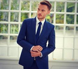 $enCountryForm.capitalKeyWord Canada - 2018 Handsome Groom Tuxedos Formal Wedding Suits Groomsman Suits (Jacket+Pants+Tie) Business Men Suits Royal Blue 3 Pieces