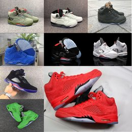 Discount cheap flights shoes - Brand Mens Basketball 5 5s Cheap Sneaker Wholesale Cement Triple Black Metallic Silver Camo Sup Red Blue Suede Take Flig