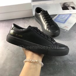 casual shoes italy 2019 - Designers Casual Shoes Common Projects By Women Black White Low Top Shoes Men Womens Italy Brand Flats Chaussure Femme H