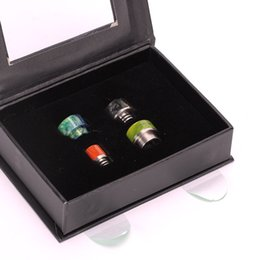 $enCountryForm.capitalKeyWord UK - Coil Father 4pcs box Epoxy Resin Drip Tip Set 510 And 810 Resin Mouthpiece Wide Bore For 510 RDA Goon  Kennedy Tank
