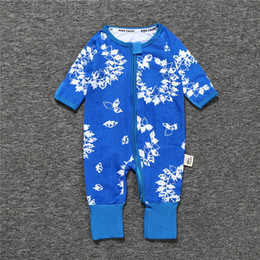 $enCountryForm.capitalKeyWord Australia - 2018 Free shipping Newborn Boy Girl Coverall Spring Autumn Cotton Floral Jumpsuit Baby Long Sleeve Zipped Kids Clothes Baby Romper