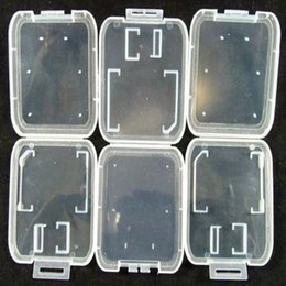 Transparent Cards Australia - SD MMC TF Card Plastic Case box Transparent Standard Memory Card Holder Storage Case for SD SDHC Memory Card