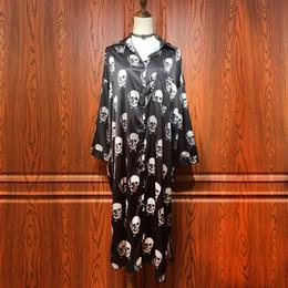 $enCountryForm.capitalKeyWord Canada - women long shirts black skull print autumn long sleeve satin shirt ladies street fashion novelty loose silky Harajuku blouses