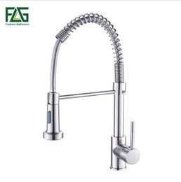$enCountryForm.capitalKeyWord UK - Spring Style Kitchen Faucet Brushed Nickel Faucet Pull Out Torneira All Around Rotate Swivel 2-Function Water Outlet Mixer Tap