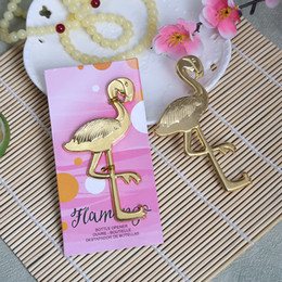 Gold Flamingo Bottle Opener Wedding Return Gift For Guests Unique Souvenir Favors Birthday Parties Supplies Free Shipping