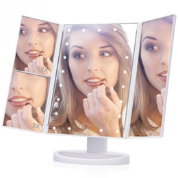 $enCountryForm.capitalKeyWord NZ - Tri-Fold Adjustable 21 LED Lights Makeup Mirror 1X 2X 3X Magnifying Make up Mirror Folding Bathroom Desktop