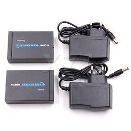 hdmi cables ethernet 2019 - 1pcs HDMI Extender 3D HDMI Transmitter Receiver over Cat 5e 6 RJ45 Ethernet 1080p Converter US EU Plug cables up to 60 m