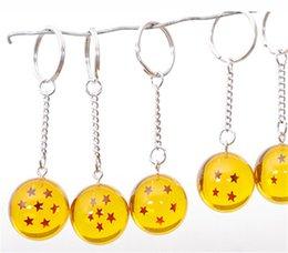 7Pcs Set Dragon Ball Z Super Saiyan Telefon Schlüsselanhänger Anhänger Mini DragonBall 7 Sterne Kristallkugel 3,5 CM Kind Spielzeug Anime Action Figure