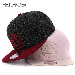 efcd6c59a83 Quality Snapback cap NY round triangle embroidery brand flat brim baseball  cap youth hip hop and hat for boys and girls