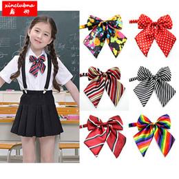 947858853713 Leisure Uniforms Canada - student Fashion beautiful bow tie children girls  popular bow tie school uniform