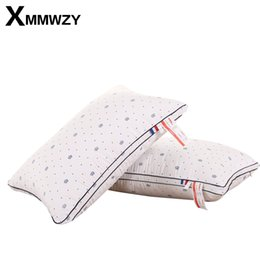 health print 2019 - New Polyester Pillow Neck Comfort Neck Pillow Relief Elasticity 3 Kinds Highly Support Health Care Printing Pillows 48x7