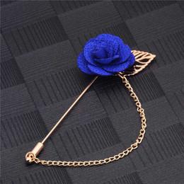 $enCountryForm.capitalKeyWord NZ - H:HYDE Men & Women 3D Rose Flower Brooch for Suits Winter Coat Collar Gold Leaf Tassel Brooch Pin of Wedding Chain Jewelry