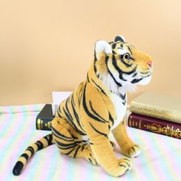 tiger soft toy 2019 - about 35x30cm squatting tiger plush toy yellow tiger soft doll children's toy Christmas gift b2001 cheap tiger soft