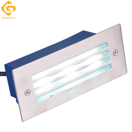 Wholesale LED Deck Step Light W Underground Lamp Waterproof Recessed Stair Paitio Inground Spot Lights Floor Garden Landscape Wall Outdoor Lighting