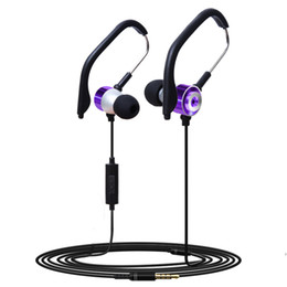 China Headphones Wired Earphone Electronics Sport Earphones with Microphone Volume Control Bass Headset Earbuds for iPhone Free Shipping cheap electronic microphones suppliers