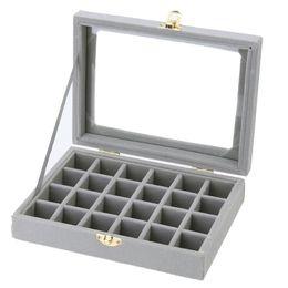 $enCountryForm.capitalKeyWord UK - torage Boxes & Bins 24 Grids Velvet Jewelry Box Earrings Rings Necklaces Makeup Holder Case Organizer Women Jewelery Storage Desk Mak...