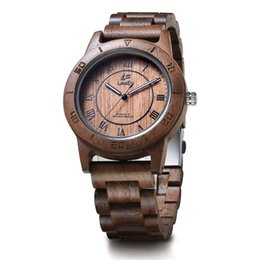 $enCountryForm.capitalKeyWord UK - LeeEv Brand EV2075E Walnut Wood Handmade Wooden Watches High Quality Mens Casual Watch Light Weight Quartz Wrist Watch