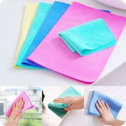 Wholesale car Wash drying toWels online shopping - Chamois Towel Multi Function Car Wash Scrub PVA Synthesis Suede Water Uptake Dry Hair Magic Towels cm Mix Colour jj V