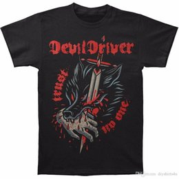 driver bits NZ - Make A T Shirt Crew Neck Devil Driver T Shirts Men's Bite The Hand Personality Casual T-Shirt Black Short Printing Shirt For Men