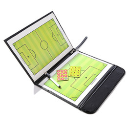 Pen Boards UK - Coaching Board Foldable Football Tactic Board Magnetic Soccer Coach Tactical Plate Book Set with Pen Clipboard Football Supplies