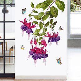 $enCountryForm.capitalKeyWord Canada - Butterfly Orchid Flower Wall Stickers Door Window Glass Decor Wallpaper Poster Art Hallway Decoration Graphics Cabinet Refrigerators Decals