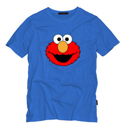 $enCountryForm.capitalKeyWord UK - Sesame Street Cartoon Mens T Shirts Summer Short Sleeve Fashion Tops Tees ELMO Printed T Shirt Mens Clothing Casual Tee Shirts