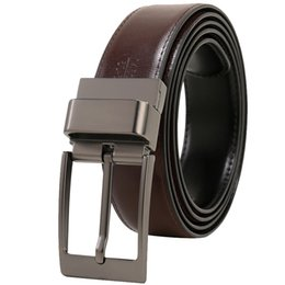 China Mens Leather Belt,Reversible and Adjustable Belts for Man with Rotated Buckle Cintos Masculinos Fashion Ceinture Homme to 160cm suppliers