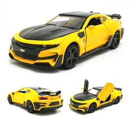 car toys open doors 2019 - 1:32 Hot Camaro Alloy Diecast Car Models Door Open Super Hornet Juguetes Cars Toys for children kids adult birthday gift