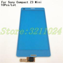 $enCountryForm.capitalKeyWord Australia - 10Pcs Lot High Quality For Sony Z3 Compact Z3 mini D5803 D5833 Touch Screen Digitizer Sensor Front Glass Lens+Logo