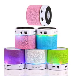 wholesale musical speaker NZ - New Arrival! LED Mini Wireless Bluetooth Speaker A9 TF USB Portable Musical Subwoofer Loudspeakers For phone PC with Mic
