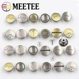 a92bd1e57 MEETEE Metal snap Button Golden tich fastener for men coat Cowboy Buttons  for suits 17mm Women Denim Clothing sewing accessories