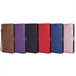 Chinese  PU Wallet Leather Case For Iphone XR XS MAX 8 7 6 6S SE 5 5S Galaxy Note 9 Note9 S9 S8 Phone Flip Cover ID Card Slot TPU Book Pouch Strap manufacturers