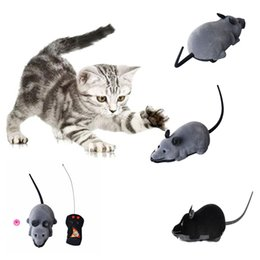 $enCountryForm.capitalKeyWord UK - New Scary R C Simulation Plush Mouse Mice With Remote Controller Kids Toy Gift Gray Black cat