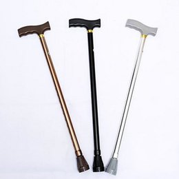 Mountaineering poles online shopping - Aluminums Alloy Non Slip Crutch For Elderly Telescopic High Adjustable Mountaineering Crutches Super Light Gentleman s Walking Stick hc X
